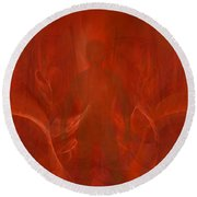 Bringer Of The Flames Round Beach Towel