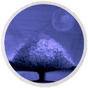 Brisk Silver Moon Round Beach Towel
