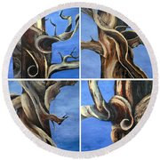 Bristlecone Tree Set Round Beach Towel
