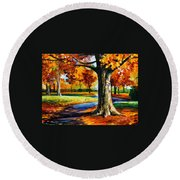 Bristol Fall  Round Beach Towel