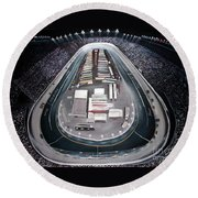 Bristol Motor Speedway Racing The Way It Ought To Be Round Beach Towel