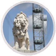 Britannia Lion Round Beach Towel