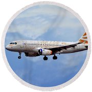 British Airways Airbus A319-131 Round Beach Towel