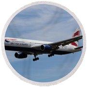 British Airways Boeing 767 Round Beach Towel