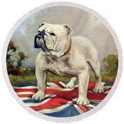 British Bulldog Round Beach Towel