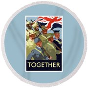 British Empire Soldiers Together Round Beach Towel