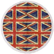 British Flag Collage One Round Beach Towel