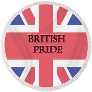 British Pride Round Beach Towel