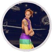 Brittney Griner Lgbt Pride 2 Round Beach Towel