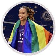 Brittney Griner Lgbt Pride 4 Round Beach Towel
