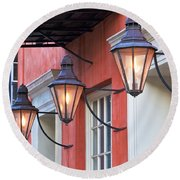 Broad Street Lantern - Charleston Sc  Round Beach Towel