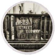 Broad Street Subway - Philadelphia Round Beach Towel