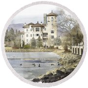 Broadmoor Hotel Round Beach Towel