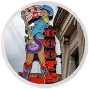 Broadway Boots - Nashville Tn Round Beach Towel