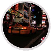 Broadway Lights Round Beach Towel