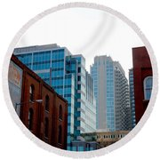 Broadway Nashville Tn Round Beach Towel