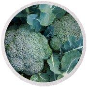 Broccoli Round Beach Towel