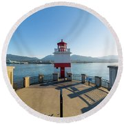 Brockton Point Lighthouse At Stanley Park Round Beach Towel