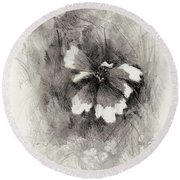 Broken Blossom Round Beach Towel