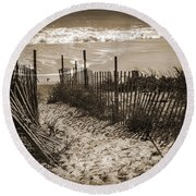 Broken Dreams And Half Remembered Memories Round Beach Towel