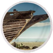 Broken Hull Round Beach Towel