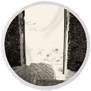 Broken Millstone Round Beach Towel