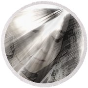 Broken Mirror Round Beach Towel