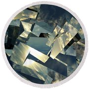 Broken Sky Round Beach Towel