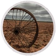 Broken Spokes Round Beach Towel