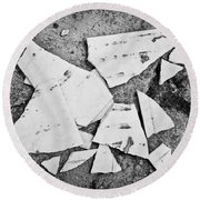 Broken Tile Round Beach Towel