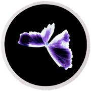Broken Wing Lavender Butterfly Round Beach Towel