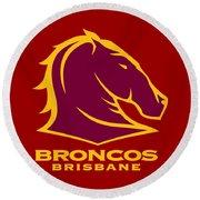 Broncos Brisbane Round Beach Towel