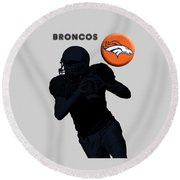 Broncos Football Round Beach Towel