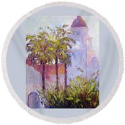 Bronson Mansion Round Beach Towel