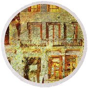 West Side Van Gogh Round Beach Towel