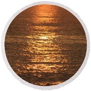 Bronze Reflections Round Beach Towel