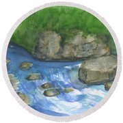 Brook And Stream  Round Beach Towel