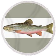 Brook Trout Round Beach Towel