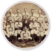 Brooklyn Bridegrooms Baseball Team Round Beach Towel