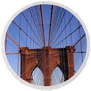 Brooklyn Bridge Round Beach Towel by Brooklyn Bridge
