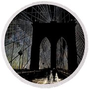 Brooklyn Gateway Round Beach Towel
