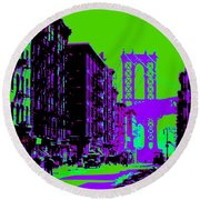 Brooklyn Green Round Beach Towel