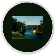 Brookville Lake Brookville Indiana Round Beach Towel