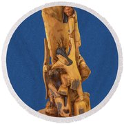 Brother 2, Carved Out Of A Dead Tree By Scott Alan Malinsky In Twin Lakes, Colorado  Round Beach Towel