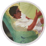 Brother Of Summer Round Beach Towel