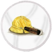 Brother Wolf - Grandmother's Hat Round Beach Towel