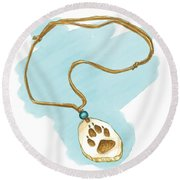 Brother Wolf - The Necklace Round Beach Towel