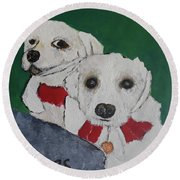 Brothers Round Beach Towel