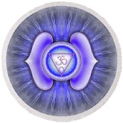 Brow Chakra - Series 4 Round Beach Towel