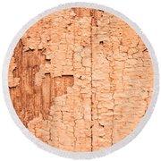 Brown Paint Texture Round Beach Towel